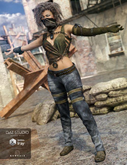Eternal Desert Warrior Outfit for Genesis 3 Female(s)