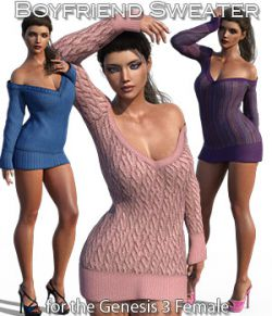 Boyfriend Sweater for Genesis 3 Female