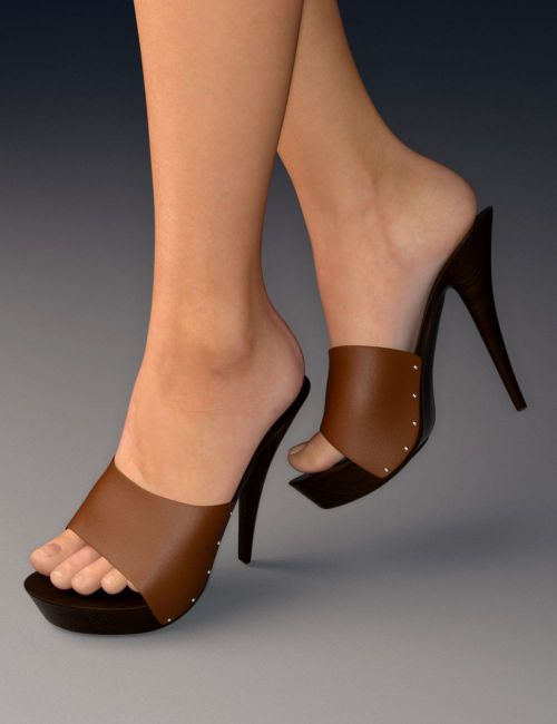 Platform Mules For Genesis 3 Female S 3d Models For