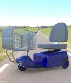 Electric Shopping Cart (for Poser)