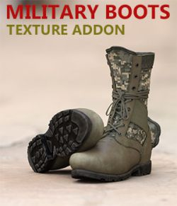 Slide3D Texture Addon for Military Boots for Genesis 3 Male(s)