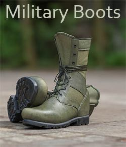 Slide3D Military Boots for Genesis 3 Male(s)