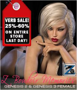 Z Boudoir Memories- Poses for Genesis 2 & Genesis 3 Female(s)