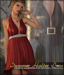 Summer Halter Dress G3F