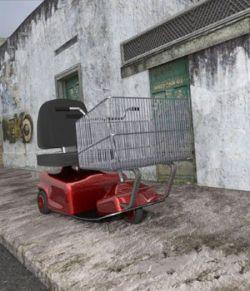 Electric Shopping Cart (for DAZ Studio)