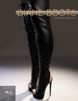 Diane Boots for Genesis 3 Female(s)