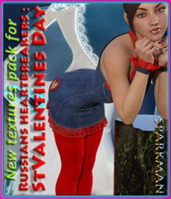 Textures addon for Russians heartbreakers: StValentines Day - Dress and Stocking