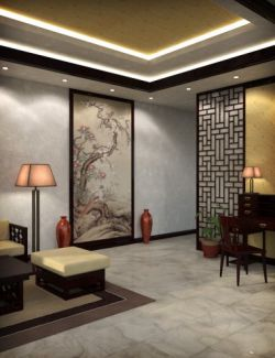 Modern Chinese Living Room