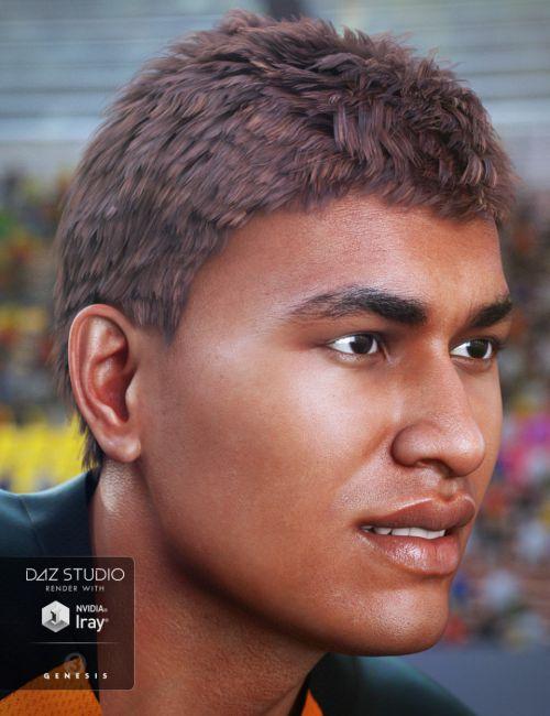 JayBird Hair for Genesis 3 Male(s)