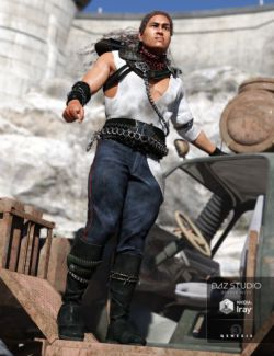 Eternal Desert Warrior Outfit for Genesis 3 Male(s)