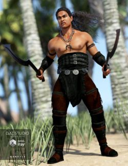 Island Warrior Outfit for Genesis 3 Male(s)