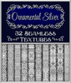 Ornamental Silver Seamless Texture Pack