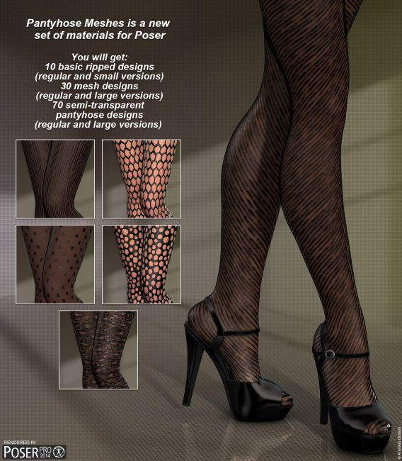 Poser - Gothic Pantyhose
