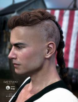 Viking Hair for Genesis 3 Male(s)