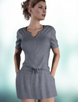 Loose Sweater Dress for Genesis 3 Female(s)
