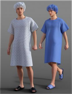 H&C Patient Gowns Set for Genesis 3 Male(s)