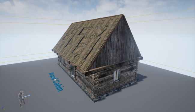 Wood Cabin - Game model with Unreal Engine Project