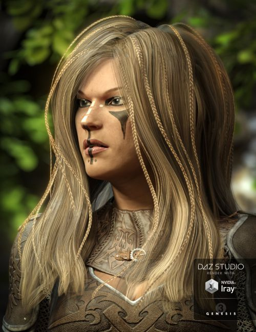 Zoe Hair for Genesis 3 Female(s)