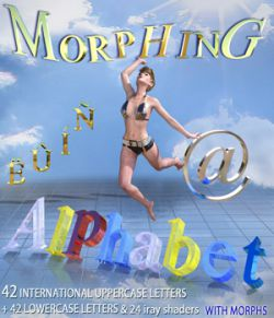 MORPHING ALPHABET for DAZ Studio