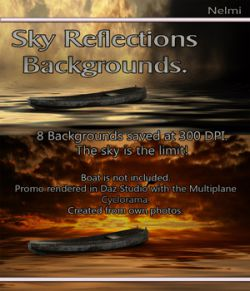 8 Sky Reflections Backgrounds