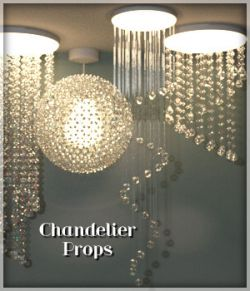 Chandelier Prop Set for DAZ Studio 4.8 and above