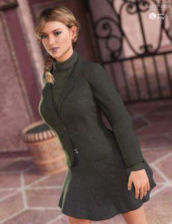 Blazer and Flare Skirt for Genesis 3 Female(s)