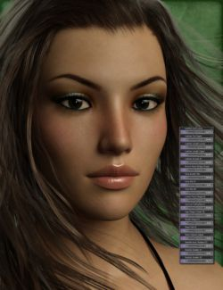 Genesis 3 Female Head Morph Resource Kit 3