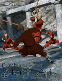 Fighting Series: Staff Arts for Genesis 3 Male