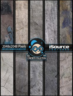 Concrete Collection Merchant Resource- Vol1 (PBR Textures)