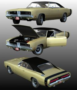 DODGE CHARGER RT 1969 ( Poser and OBJ )