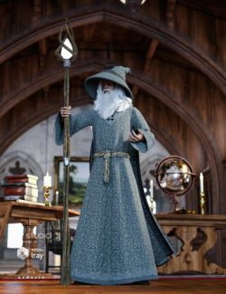 Myrddin Outfit for Genesis 3 Male(s)