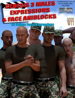 Genesis 3 Male(s) Expressions & Face aniBlocks