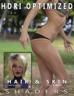 HDRI Optimized Skin & Hair Shaders
