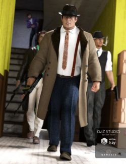 Mobster Outfit for Genesis 3 Male(s)