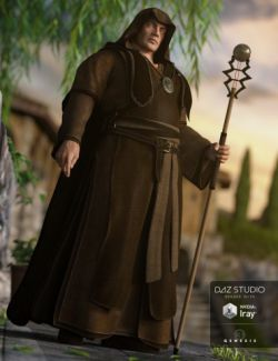 Fantasy Friar Outfit for Genesis 3 Male(s)