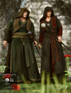 Fantasy Friar Outfit Textures