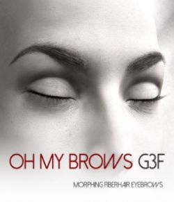 Oh My Brows Morphing Eyebrows for Genesis 3 Female
