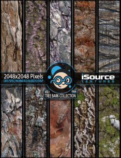 Bark Collection Merchant Resource- Vol1 (PBR Textures)
