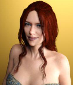 Dahlia Hair for Genesis 3 Female(s)