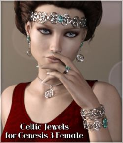 Celtic Jewels for Genesis 3 Female