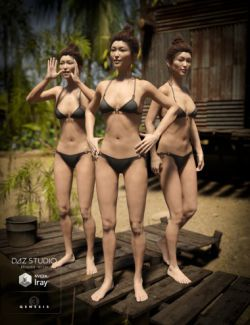 DA Village Life Poses For Mei Lin 7