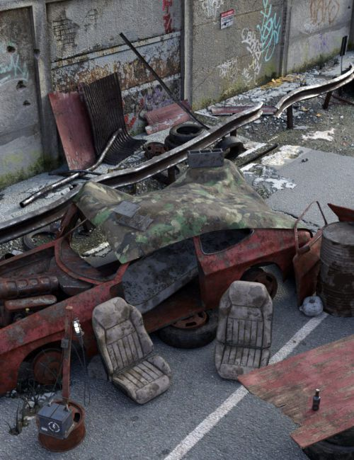 Post-Apocalyptic World: Car Wreck