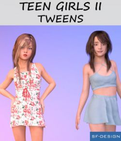 The Girls II- Tweens- Shapes for Genesis 3 Female