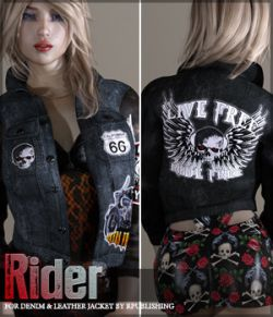 Rider for Denim and Leather Jacket