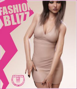 Fashion Blizz: Poudre Dress for Genesis 3 Female(s)