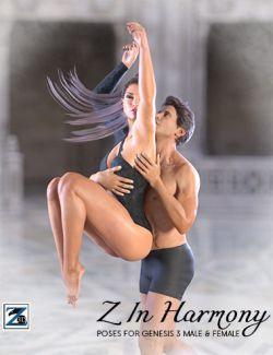 Z In Harmony- Poses for Genesis 3 Male & Female