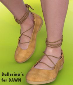 Comfy Ballerina Flats for Dawn - DS