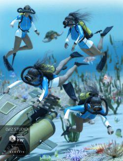 Underwater Explorer Poses
