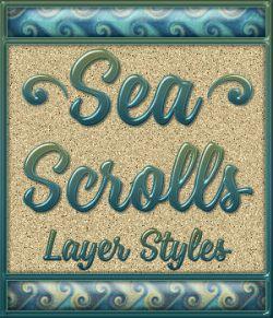 Sea Scrolls Layer Styles