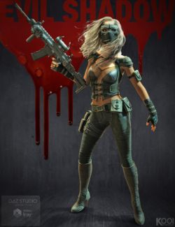 Evil Shadow Outfit for Genesis 3 Female(s)